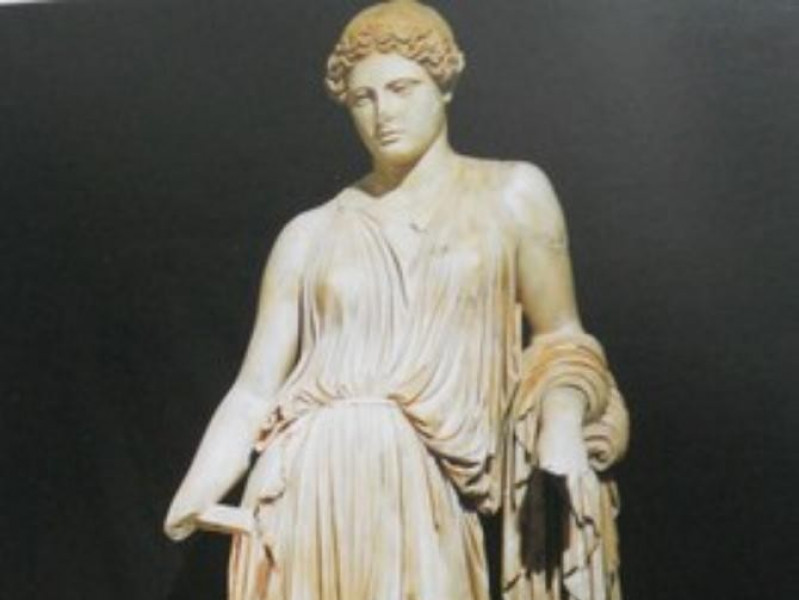 Villa dei Papiri, statua rinvenuta nella vill