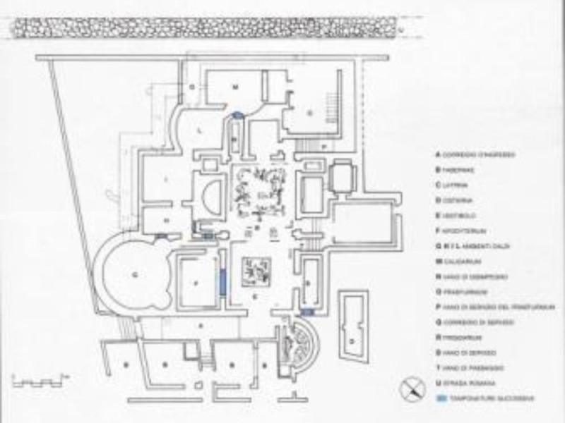 Complesso termale di Via Terracina, planimetr