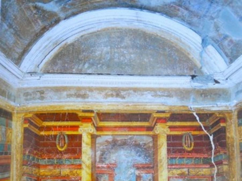 Villa di Poppea, cubicolo decorato in II stil