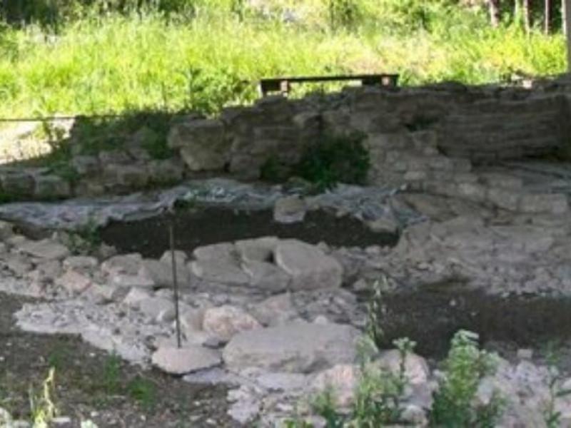 Particolare del tempio italico