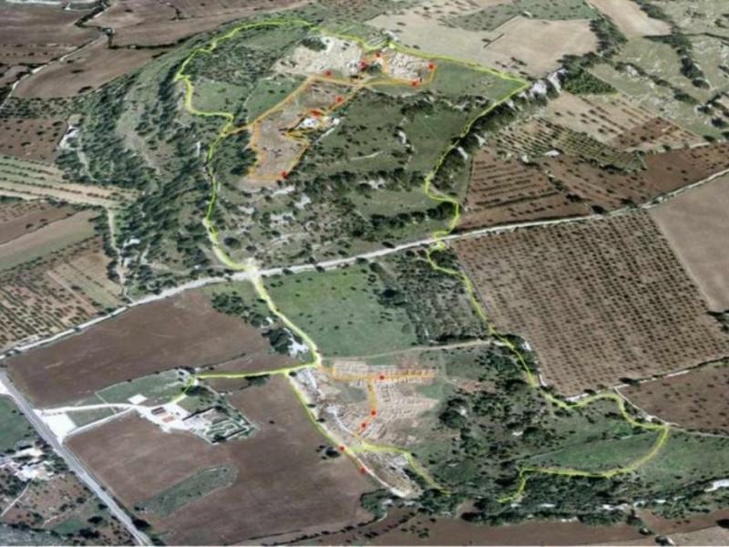 Monte Sannace, veduta aerea del sito archeolo