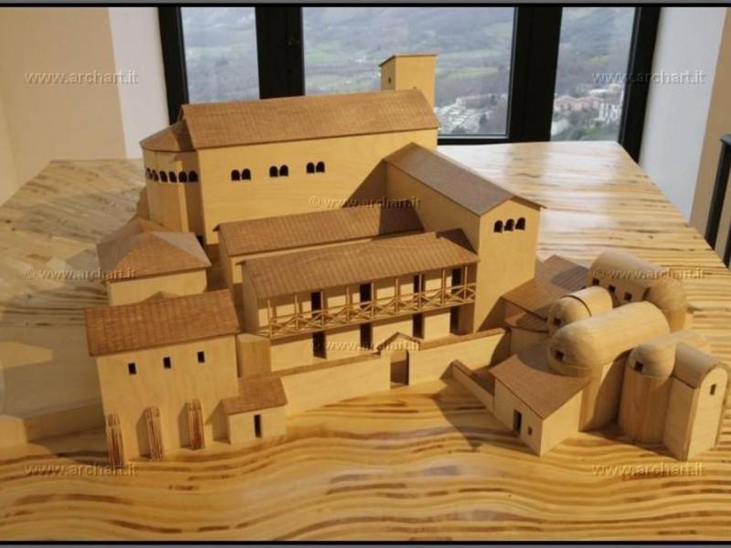 Ricostruzione del convento medievale oggi sed