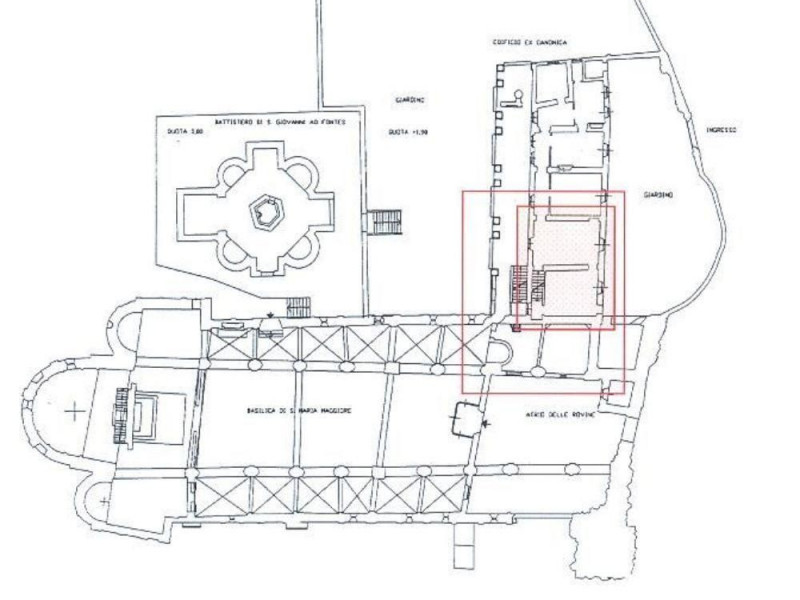 Planimetria Basilica Lomello