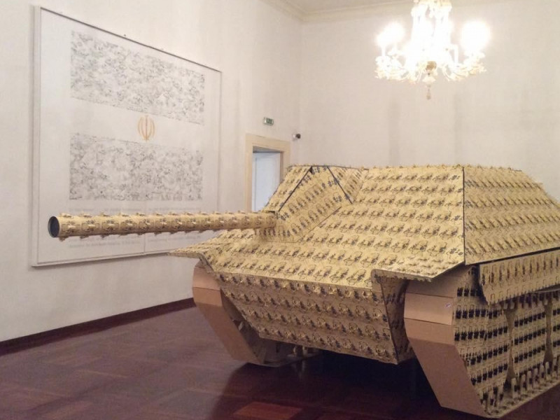 Pietro Ruffo, Carro armato tedesco