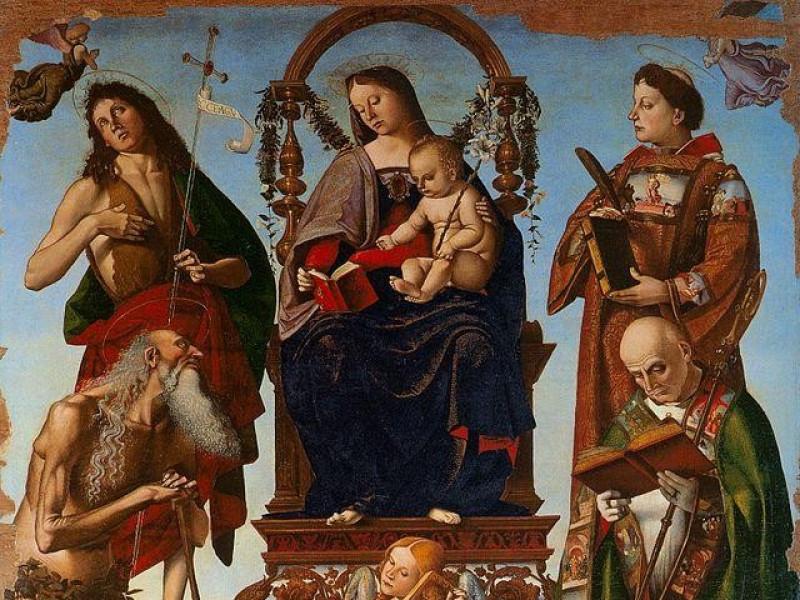Cattedrale di San Lorenzo: Pala di S. Onofrio (L. Signorelli)