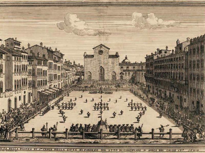 Piazza Santa Croce: calcio storico fiorentino