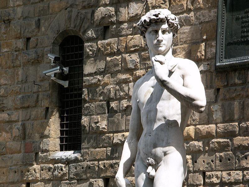 Piazza della Signoria: copia del David (Michelangelo)