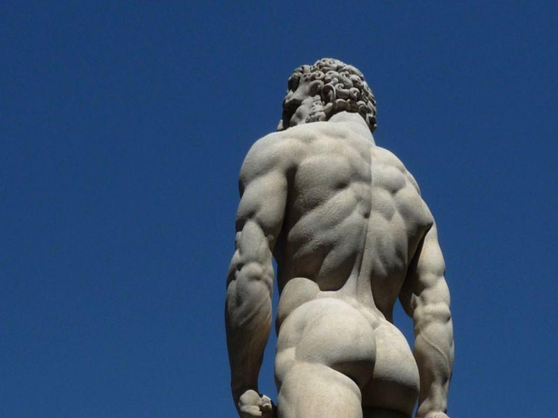 Piazza della Signoria: copia di Ercole e Caco (Baccio Bandinelli)