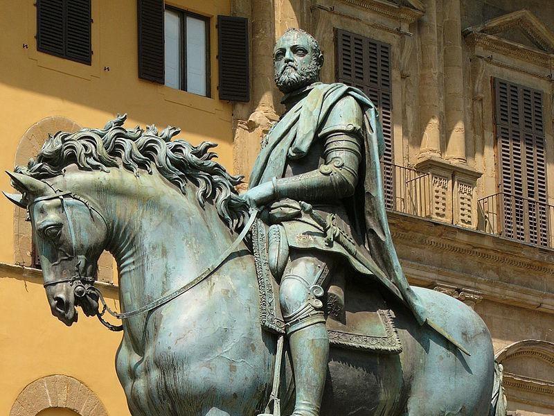 Piazza della Signoria: Monumento a Cosimo de' Medici (Giambologna)