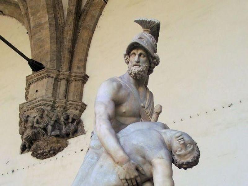 Loggia dei Lanzi: Patroclo e Menelao (arte romana)