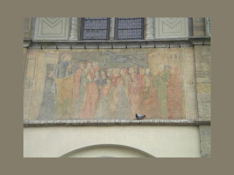 Loggia del Bigallo: predicazione di s. pietro martire