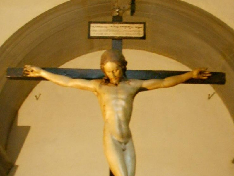Basilica di Santo Spirito: crocefisso (Michelangelo)
