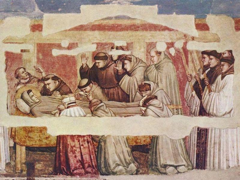 Basilica di Santa Croce: Morte di S. Francesco (Giotto)