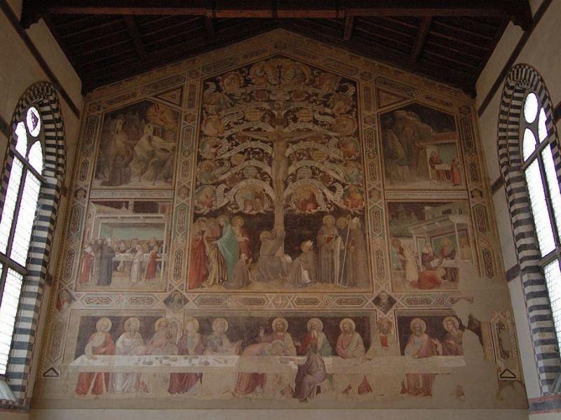Basilica di Santa Croce: cenacolo (taddeo gaddi)