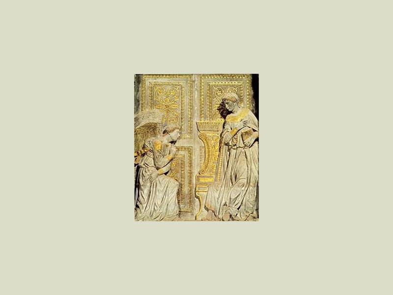 Basilica di Santa Croce: annunciazione (Donatello)