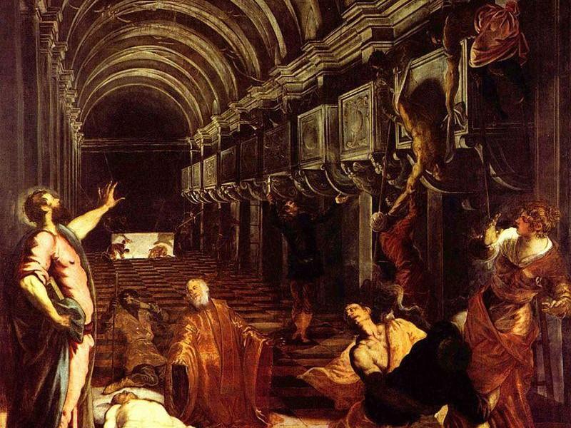 La Scuola Grande di San Marco: ritrovamento del corpo di san marco (tintoretto)