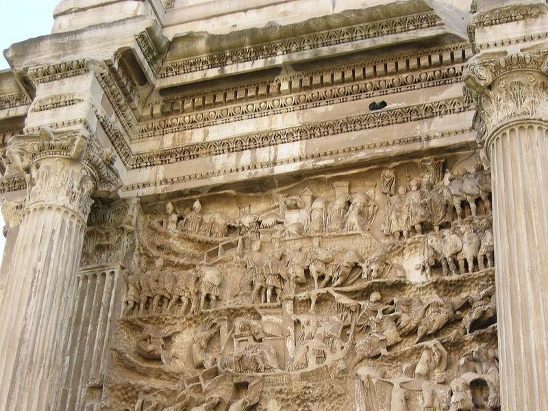 Arco di Settimio Severo: terzo pannello