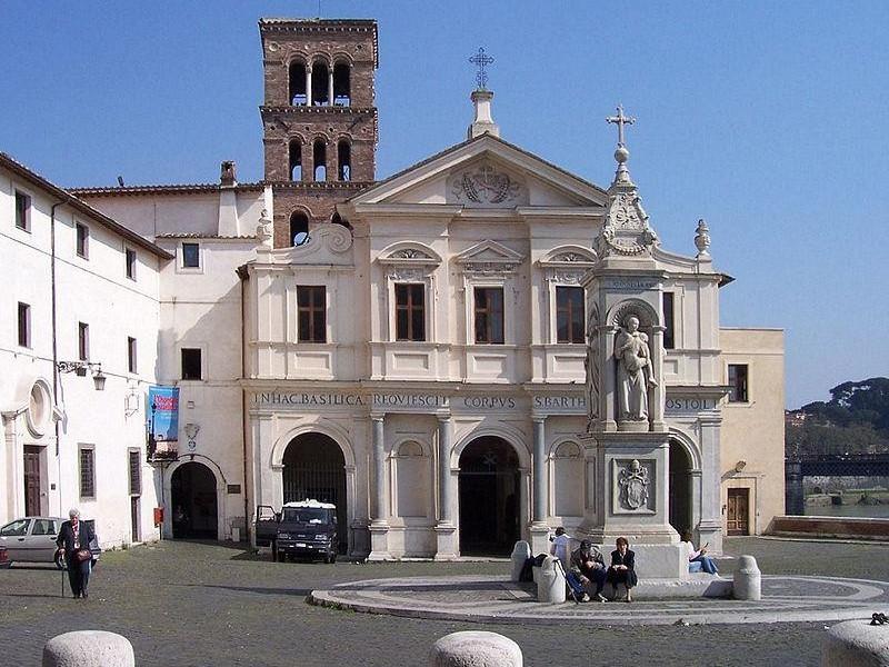 Isola Tiberina: basilica di san bartolomeo