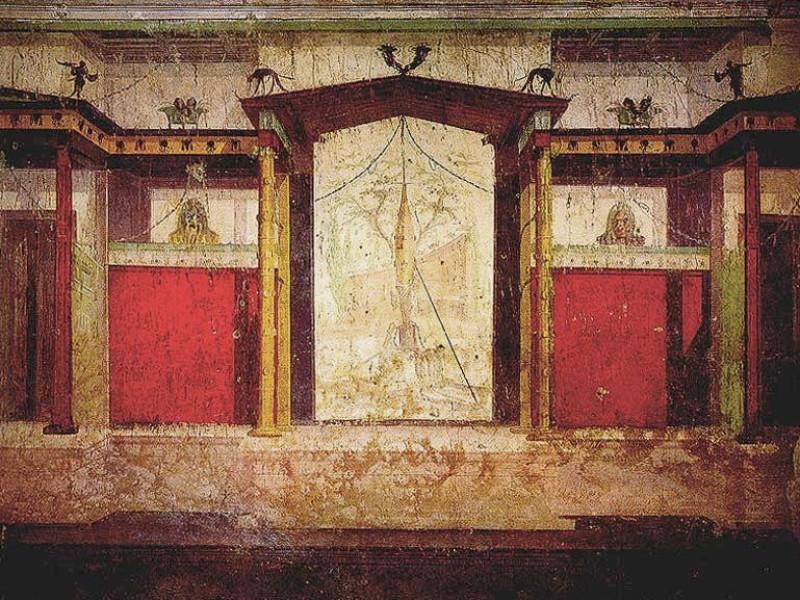 Palazzi Imperiali: casa di augusto - stanza delle maschere
