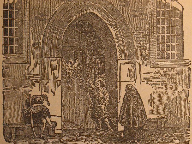 Il Palazzotto in un'illustrazione di Francesco Gonin (1808-1889)