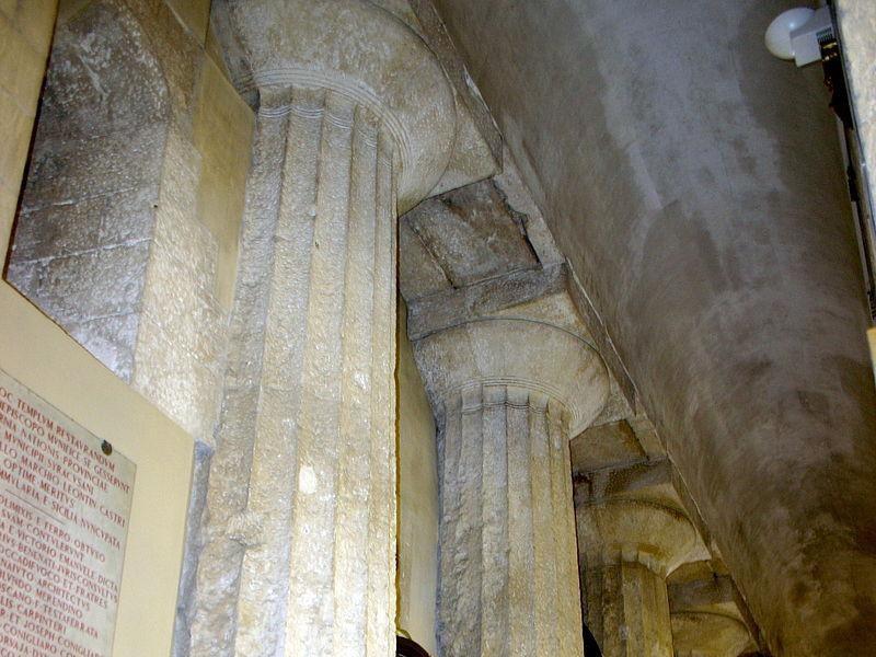 Colonne dell'antico Tempio di Atena