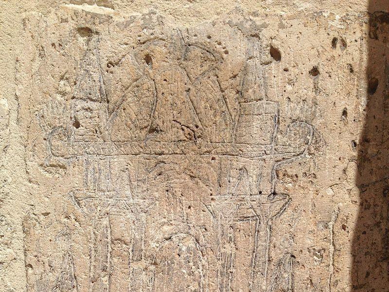 Graffito misterioso sulla facciata