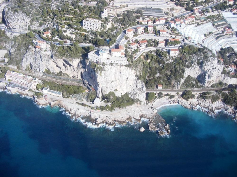immagine aerea dell'area archeologica